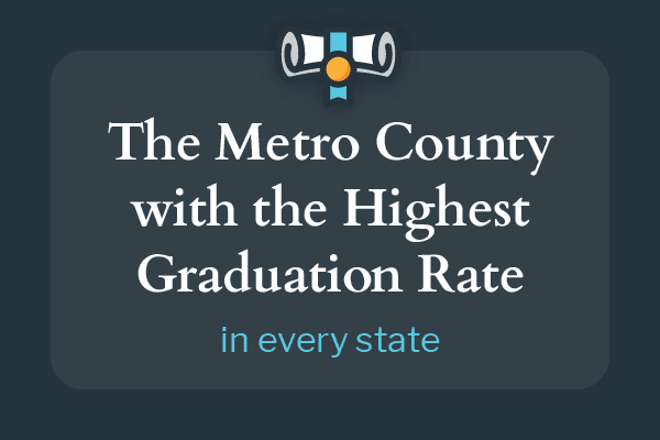 The Metro County with the Highest Graduation Rate in every state