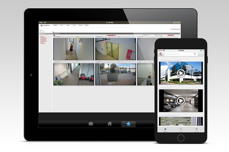 A security video system on mobile devices